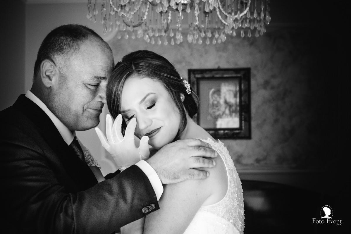 emozione sposa con papà