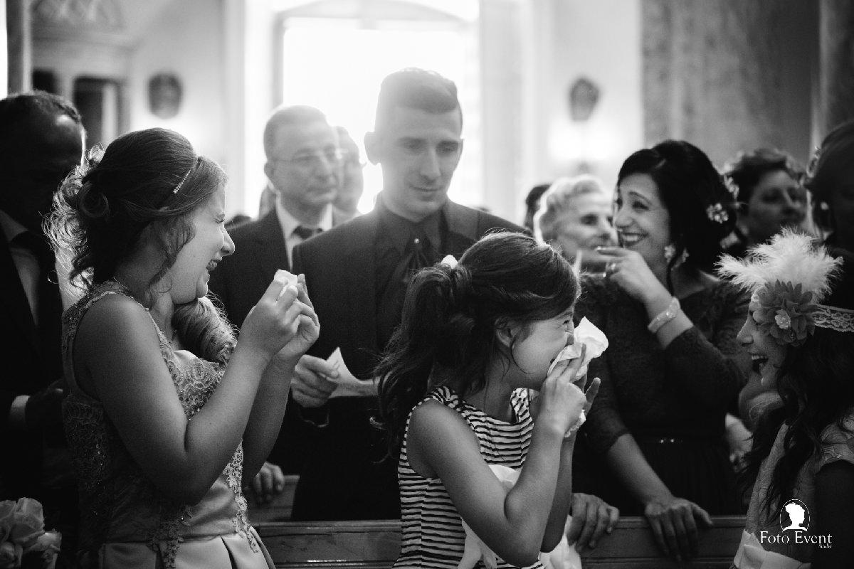 emozione del matrimonio familiari