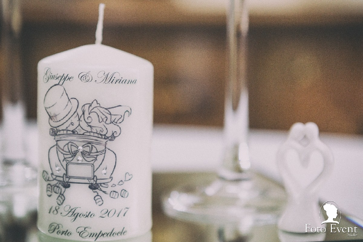 dettagli candele matrimonio