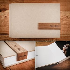 album digitale modello con legno